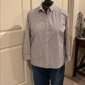 J Jill Cotton button-up dress shirt 2X